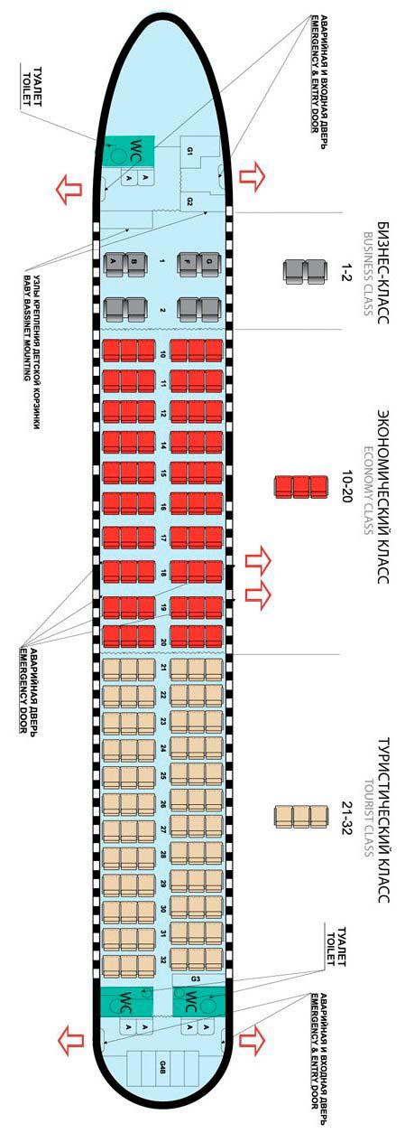 Схема самолёта Боинг 737-400